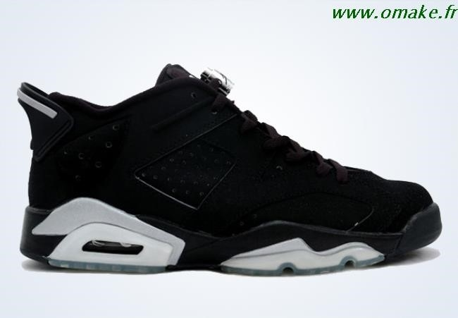a559b1db1c90 Air Jordan 6 Low Black Metallic Silver omake.fr
