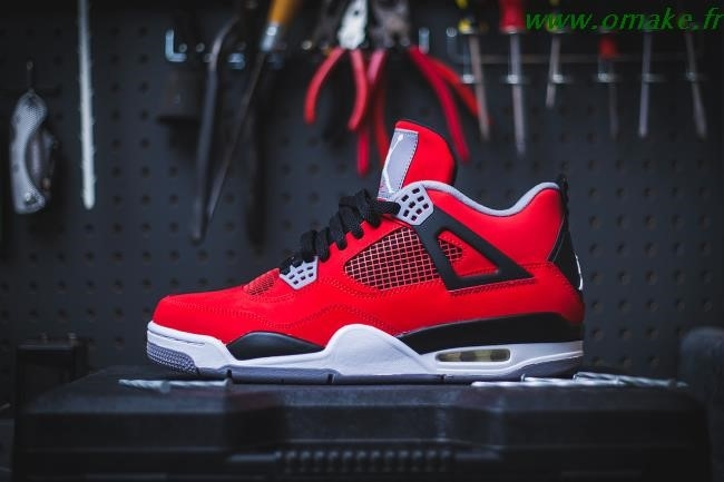 Air Jordan 4 Retro Rouge Feu omake.fr