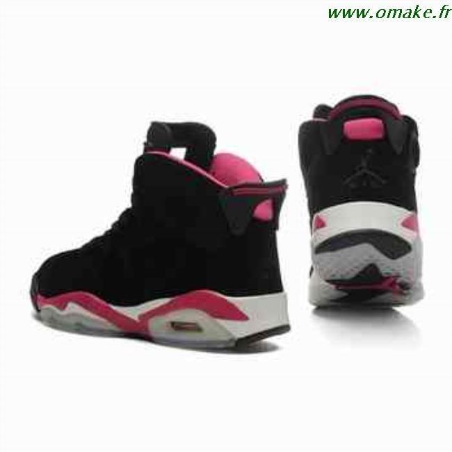 meilleures baskets c1094 214a7 Air Jordan 6 Femme Noir Rose omake.fr