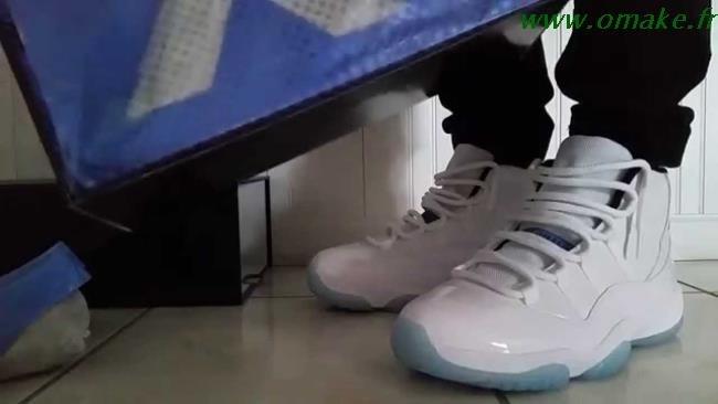best sneakers 196a1 8bad8 Jordan 11 Legend Blue On Feet