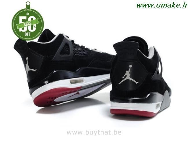 prix le plus bas 03907 41644 Jordan Retro 4 Noir Et Rouge omake.fr