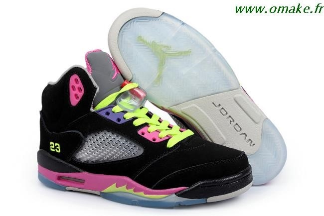 photos officielles 7a7f8 755da Air Jordan Femme Retro 5 omake.fr
