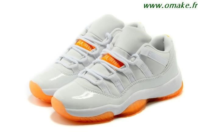 Jordan Orange Et Blanche
