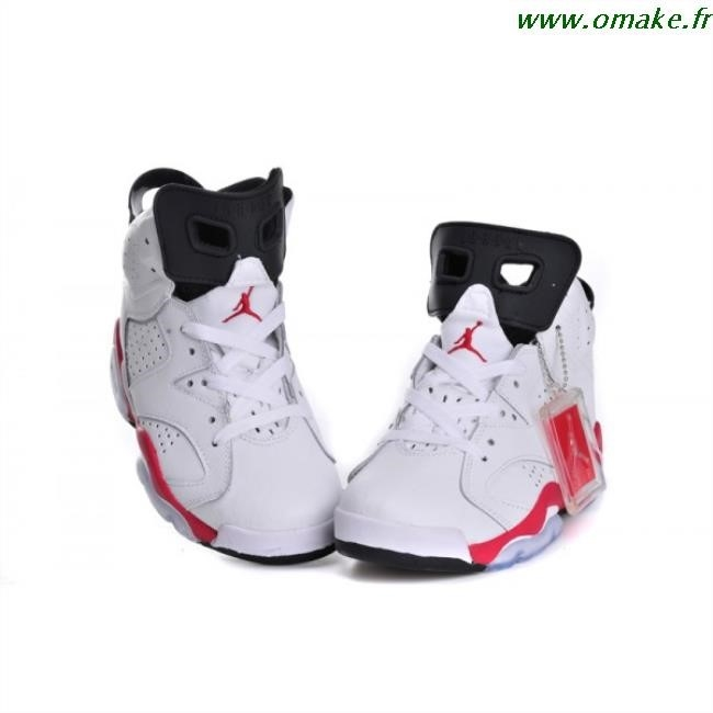 super popular 1580a 3046f Air Jordan 6 Retro Noir Et Rouge Femme