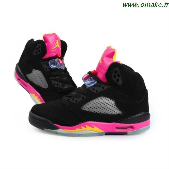 Air Jordan Femme Noir Et Rose omake.fr