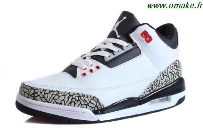plus récent e6d62 d9d00 Air Jordan Retro 3 Homme Noir omake.fr