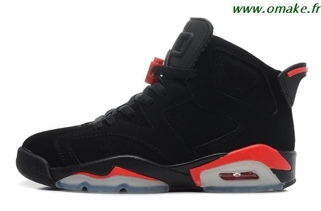 basket jordan homme noir et rouge