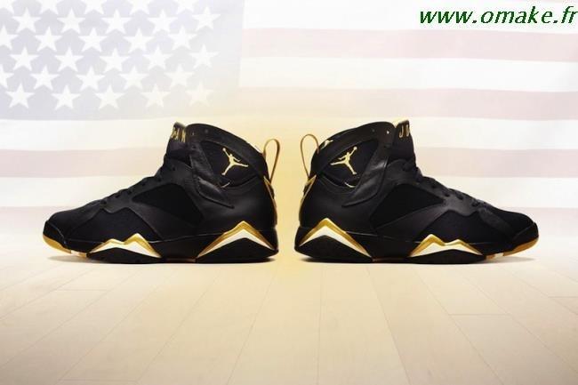 acheter en ligne aa3d7 b36e7 Air Jordan 7 Noir Et Or omake.fr