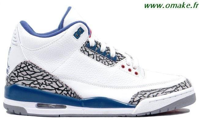 Air Jordan Retro 3 Blanc Bleu