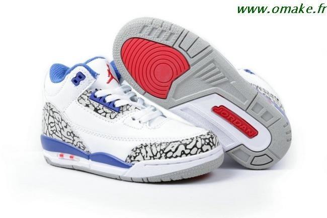 Air Jordan Retro 3 Blanc Bleu