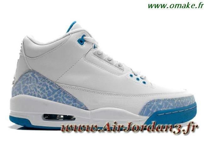 63a95ba6daa Air Jordan 3 Retro Bleu Et Blanc omake.fr