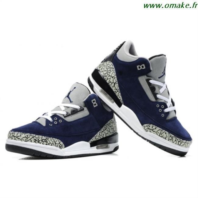 on sale f7367 dbb3a Air Jordan 3 Retro Bleu Blanc Ciment