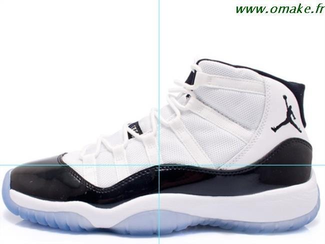 chaussures de séparation dbaa2 b1c78 Air Jordan 11 Noir Bleu Blanc omake.fr
